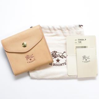 IL BISONTE - 新品 イルビゾンテ 二つ折り 財布 Wホック 折財布 コインケース 札入れ ヌメ