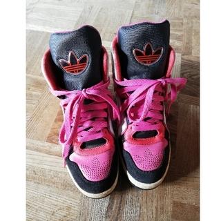 アディダス(adidas)のアディダス ピンク ロゴスニーカー(スニーカー)
