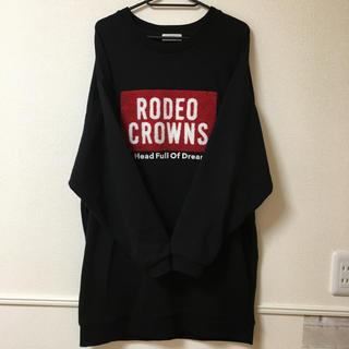 ロデオクラウンズ(RODEO CROWNS)のロデオクラウンズ スウェットワンピ(トレーナー/スウェット)