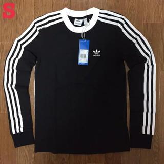 アディダス(adidas)のアディダス オリジナルス 3ストライプ 長袖 Tシャツ 黒 S 新品未使用(Tシャツ(長袖/七分))