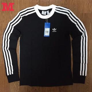 アディダス オリジナルス 3ストライプ 長袖 Tシャツ 黒 M 新品未使用