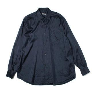 COMOLI - comoli シルクシャツ サイズ1 ネイビー