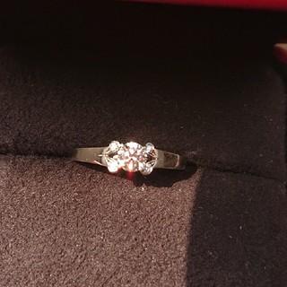カルティエ(Cartier)の【美品新品仕上げ】カルティエバレリーナ プラチナ ダイヤ0.33(リング(指輪))