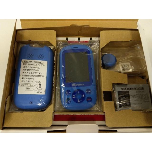 NTTdocomo(エヌティティドコモ)の【新品】ドコモキッズ携帯 F-03J ブルー(青) SIMフリー スマホ/家電/カメラのスマートフォン/携帯電話(携帯電話本体)の商品写真
