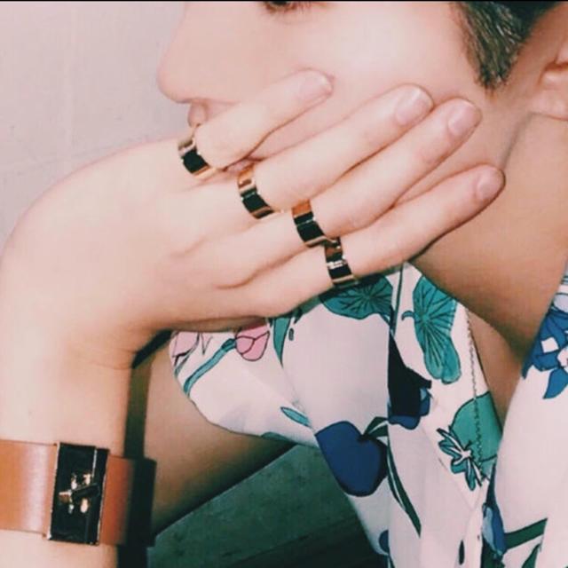 二連リング シルバー 即購入OK メンズのアクセサリー(リング(指輪))の商品写真