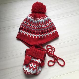 COMME CA ISM - 【中古】ニット帽子と手袋セット