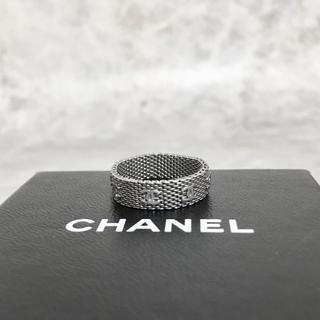 CHANEL - 正規品 シャネル 指輪 メッシュ チェーン シルバー ココマーク 銀 リング