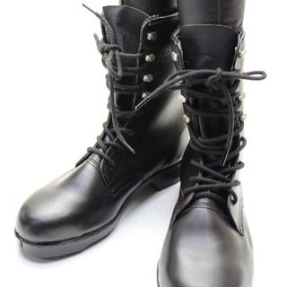 ☆YSK★編み上げブーツ つま先芯入り 革製 安全靴 26(3E)☆A135