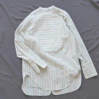 BEAUTY&YOUTH UNITED ARROWS - Stripe Cotton Back Open Shirt フミカウチダ