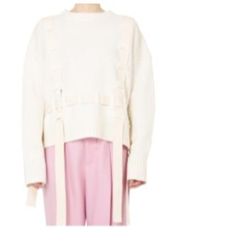 ルシェルブルー(LE CIEL BLEU)の完売★ルシェルブルー★Tape Detail Knit Topsホワイト(ニット/セーター)