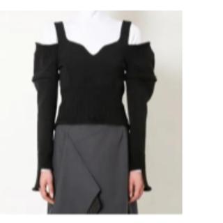 ルシェルブルー(LE CIEL BLEU)の完売★アイレネ★Bustier Knit Vest★ブラック(ニット/セーター)
