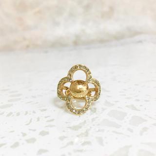 ルイヴィトン(LOUIS VUITTON)の正規品 ヴィトン 指輪 パワー フラワー M66089 リング 花 ゴールド 石(リング(指輪))