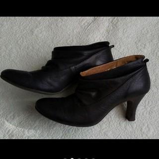 ヒミコ(卑弥呼)の卑弥呼  ブーツ  ブーティー  ブラック  黒  24.5(ブーティ)
