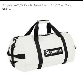 Supreme - Supreme Nike Leather Duffle Bag White