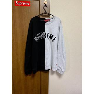 Supreme - supreme split crewneck sweatshirt XL