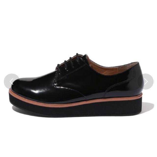 Adam et Rope'(アダムエロぺ)のADAM ET ROPE' アダムエロペ 厚底レースアップシューズ 未使用 レディースの靴/シューズ(ローファー/革靴)の商品写真