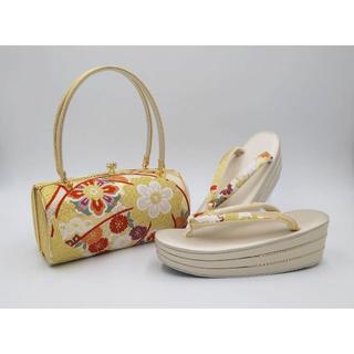 日本謹製*フォーマル 振袖 京都西陣織帯地*草履バッグセット20191211-c
