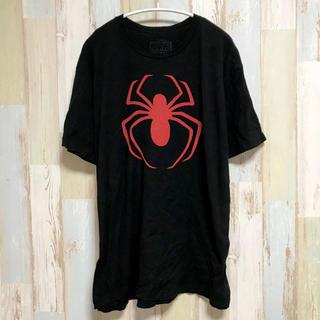 マーベル(MARVEL)のアメリカ古着 スパイダーマン ロゴTシャツ マーベル MARVEL アメコミ(Tシャツ/カットソー(半袖/袖なし))