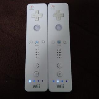 Wii - Wiiリモコン 白2本 (ストラップなし)