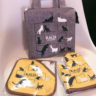 カルディ(KALDI)の【新品未使用】KALDI 猫の日バッグ 3点セット(トートバッグ)