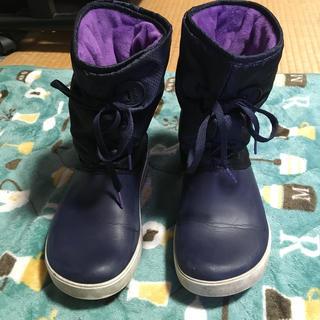 crocs - クロックス/レインスノーブーツ💕紫色