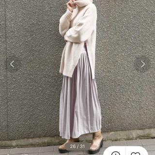 JEANASIS - シャイニープリーツロングスカート