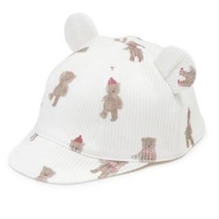 gelato pique - ジェラートピケ  ティディベア レッド 帽子