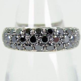 ガラベリ 18ktWG ブラックダイヤモンド リング 15号[g114-9](リング(指輪))