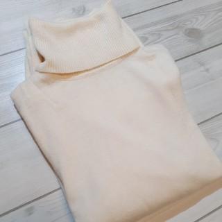 ユニクロ(UNIQLO)のユニクロ ウール タートルネック xl ホワイト ニット セーター(ニット/セーター)