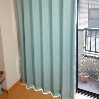 水色カーテン 100×200cm 4枚