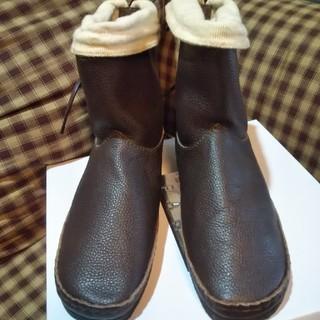 サマンサモスモス(SM2)のSM2サマンサモスモス 牛革後ろリボン ブーツ未使用訳あり ブラウンL(ブーツ)