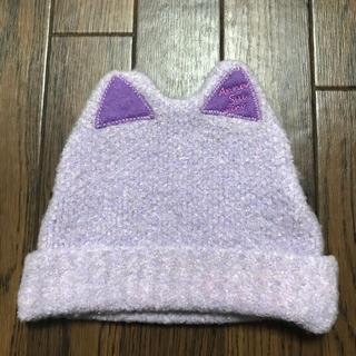 アナスイミニ(ANNA SUI mini)のアナスイミニ  ニット帽 紫(帽子)
