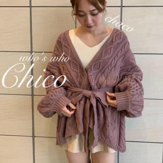 who's who Chico - ☃️新作🎄¥7590【Chico】ケーブルニットガウン ケーブルカーディガン