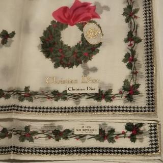 クリスチャンディオール(Christian Dior)の新品シール付き クリスチャンディオール ハンカチ(ハンカチ)