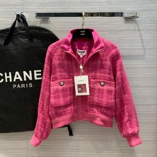 CHANEL - CHANELシャネル ダウンジャケット 秋冬 ピンク  Sサイズのみ
