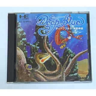 エヌイーシー(NEC)のPC-Engine ディープブルー 海底神話(家庭用ゲームソフト)