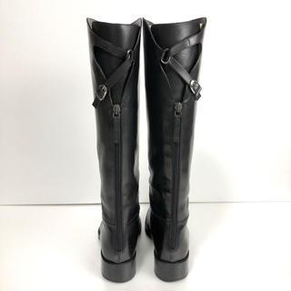 サルトル(SARTORE)の美品 38 SARTORE シングルベルト ロングブーツ  黒 サルトル(ブーツ)