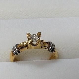 k18/pt900  0.20ct. ダイヤモンドリング