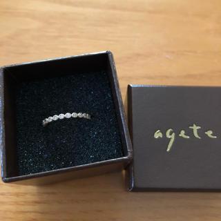 アガット(agete)のアガット フリルリング PG 8号(リング(指輪))