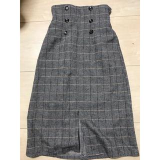 しまむら - チェック スカート コクーン しまむら グレー 新品 未使用 冬