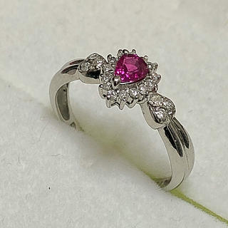 pt900 ルビー ダイヤの指輪(リング(指輪))