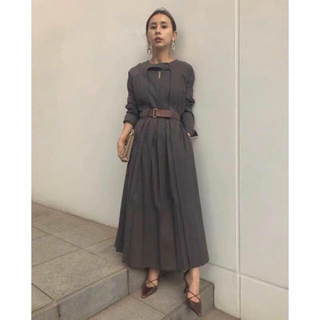 Ameri VINTAGE - アメリヴィンテージ BELTED PLEATS DRESS