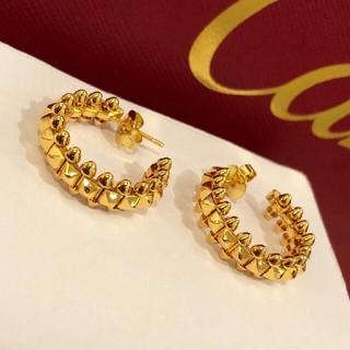Cartier - 美品Cartier カルティエ ピアス めちゃめちゃ可愛い ゴールド