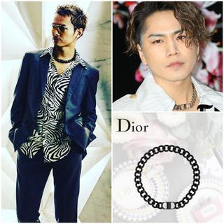 ディオール(Dior)の三代目 今市隆二 登坂広臣 Dior CD ICON ネックレス 真鍮/カーボン(ネックレス)