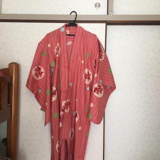 浴衣(ピンク×金魚×ボーダー)(浴衣)