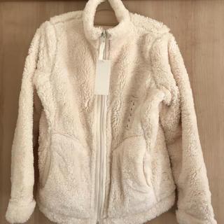 UNIQLO - ユニクロ ファーフリースリバーシブルジャケット オフホワイト *Lサイズ*