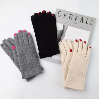 ROSE BUD - 手袋 お洒落 グローブ 可愛い ネイル手袋 レディース手袋 ブラック