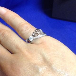 ピンキーリング プラチナ ダイヤ (リング(指輪))