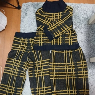 moussy - マウジー ニット セットアップ パンツ&スカート(着画あり)