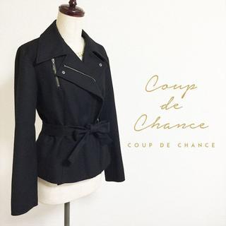 COUP DE CHANCE - COUP DE CHANCE☆ベルト付ウールジャケット